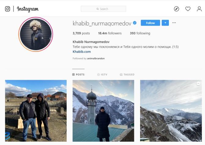 Instagram médias sociaux russes
