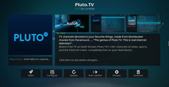 pluto tv kodi install