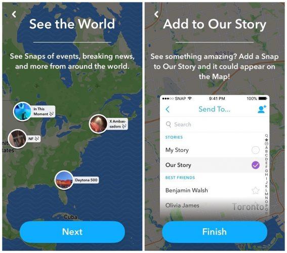 comment utiliser snapchat - snap map screens