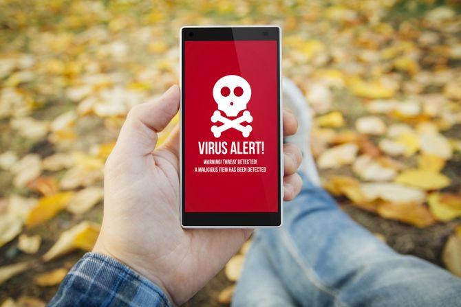 faux virus alerte mobile malware