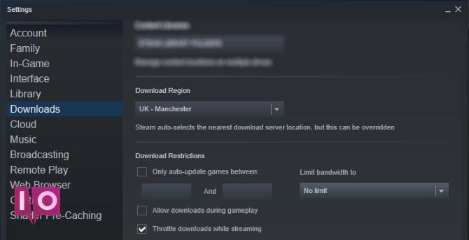 Choisissez un nouveau serveur pour accélérer Steam