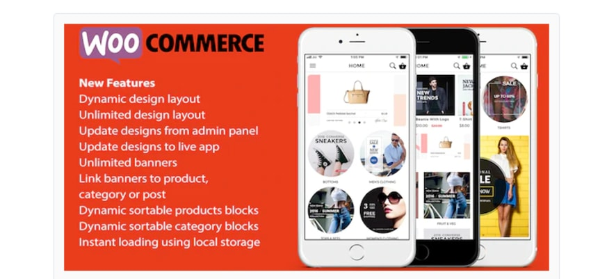 Application Ionic 3 pour Woocommerce