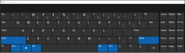 La touche Office appuie sur les quatre touches de modification