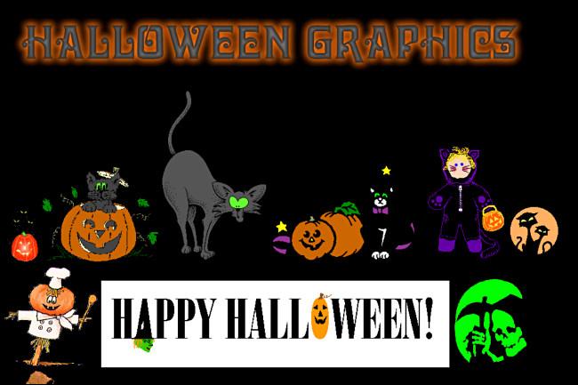 Un site Web Halloween Graphics sur GeoCities.