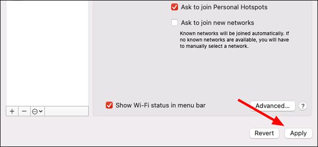 menu réseau macos