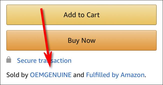 """Une liste pour un produit """"Vendu par OEMGENUINE et expédié par Amazon"""" dans l"""