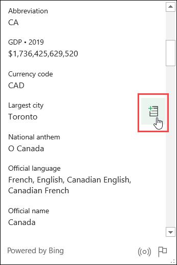 Cliquez sur l'icône Extraire vers la grille.