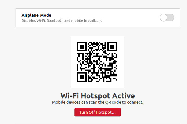 Une boîte de dialogue de point d'accès Wi-Fi dans Ubuntu 20.10.