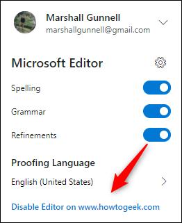 Désactiver l'option dans l'éditeur