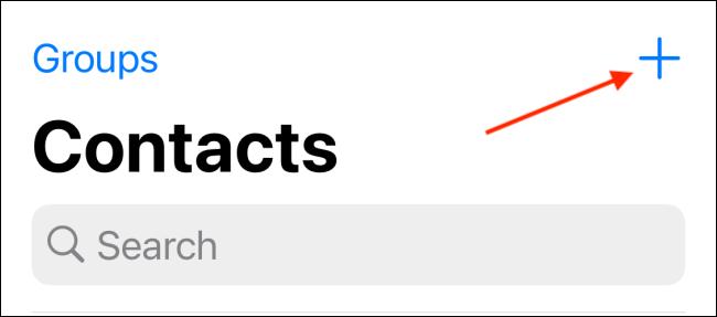 Appuyez sur le bouton Plus dans l'onglet Contacts
