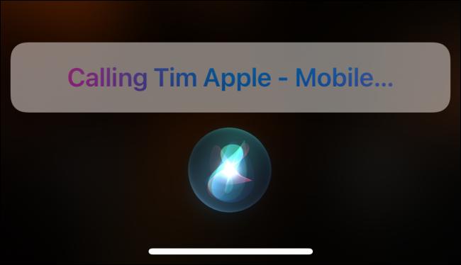 Utiliser Siri pour appeler quelqu'un