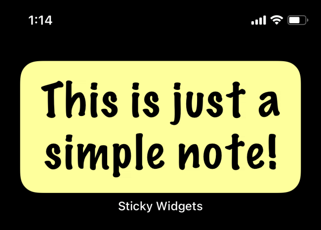 Sticky Widget Note mise à jour