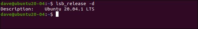 lsb_release -d dans une fenêtre de terminal.