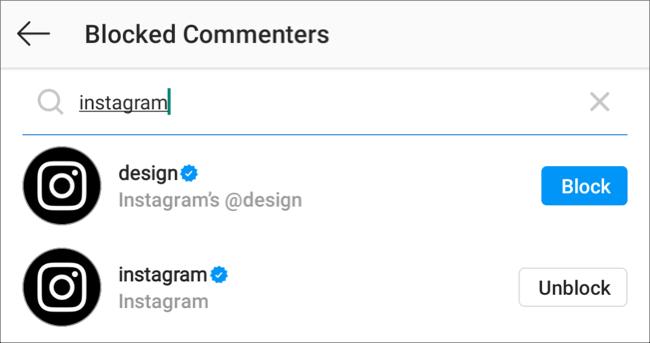 Empêcher un utilisateur de commenter vos publications Instagram