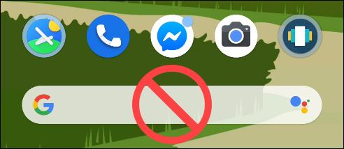 Le lanceur de pixels de recherche Google avec un aucun symbole dessus.