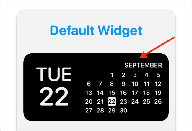 Appuyez sur l'aperçu du widget dans Widgetsmith