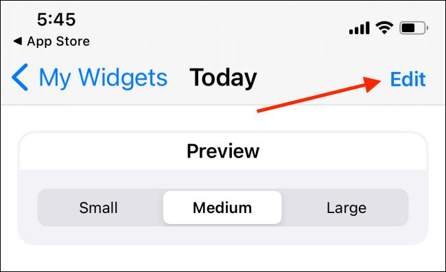 Appuyez sur le bouton Modifier dans le widget Widgeridoo