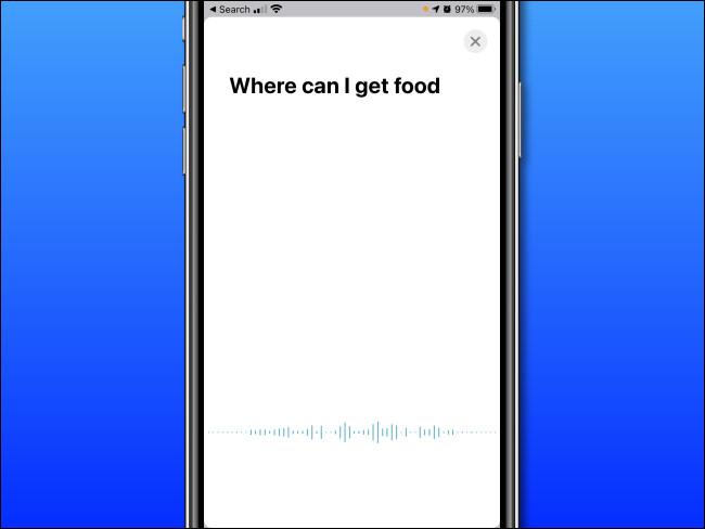 Dans Apple Translate sur iPhone, prononcez les mots que vous souhaitez traduire.