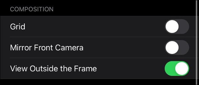 """Le menu """"Composition"""" sur iPhone."""