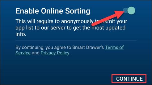activer le tri en ligne