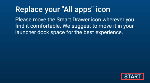 remplacer le tiroir d'applications