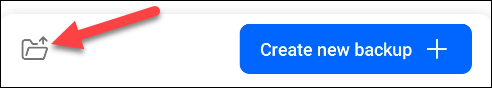 appuyez sur l'icône du dossier