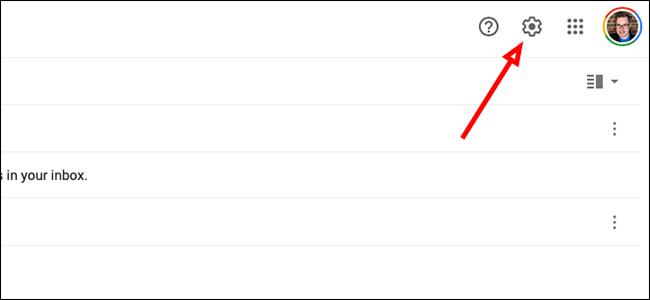 """Cliquez sur """"Paramètres"""" dans Gmail"""