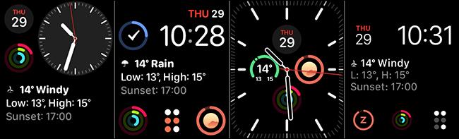 Les cadrans de montres modulaires, modulaires compacts, modulaires d'infographie et Meridian pour les complications.