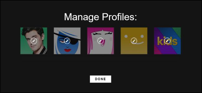 Sélection de profil Netflix