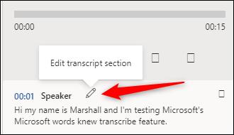 Modifier la transcription