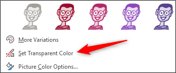"""Cliquez sur """"Définir la couleur transparente""""."""