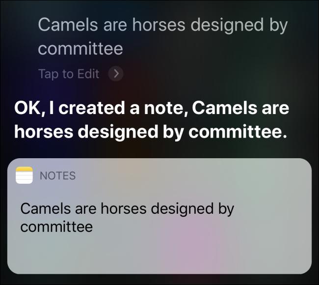 Demander à Siri de créer une note sur iPhone