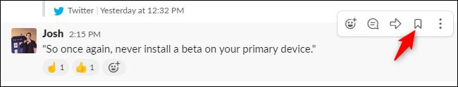 Enregistrer un message pour plus tard dans Slack.