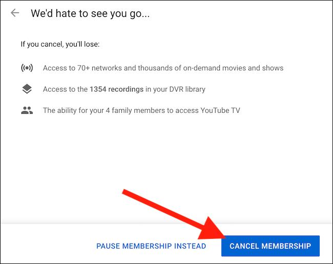 """Clique le """"Annuler l'adhésion"""" bouton pour finaliser l'annulation de votre compte"""