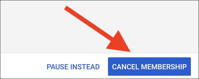 """YouTube TV répertoriera ce que vous manquerez en annulant.  Sélectionnez une dernière fois le bouton """"Annuler l"""