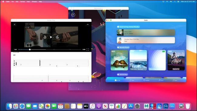 Diverses applications iPhone et iPad fonctionnant sur un Mac avec Apple Silicon.