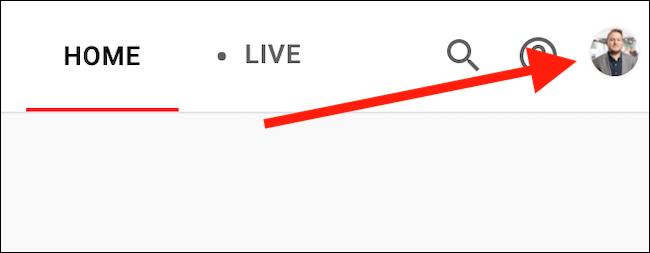 Cliquez sur votre avatar YouTube TV dans le coin supérieur droit
