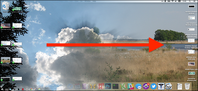 Synchroniser un bureau Mac et Windows 10.