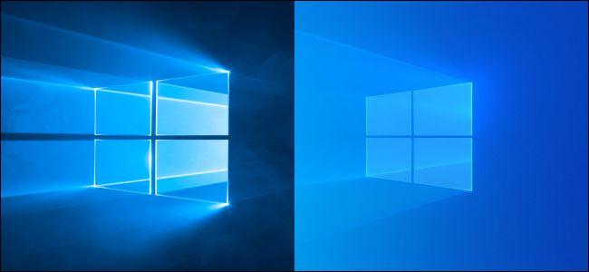 Les anciens et nouveaux fonds d'écran par défaut de Windows 10.