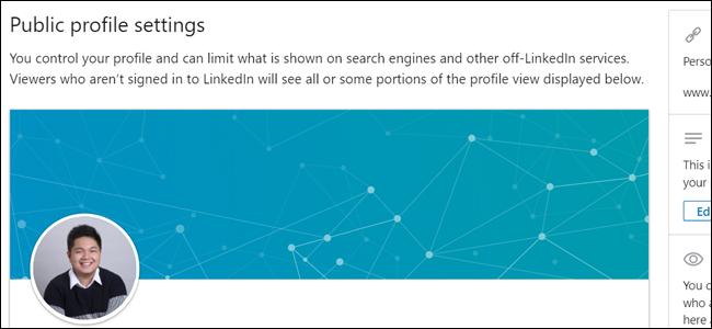 Paramètres de profil public LinkedIn
