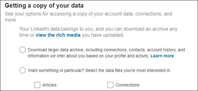 Gestion des données LinkedIn