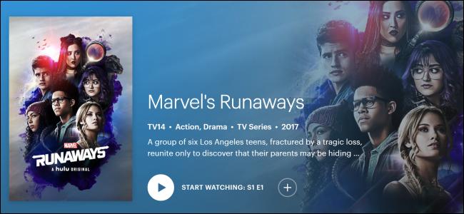 """Originaux Hulu """"Les fugueurs de Marvel."""""""