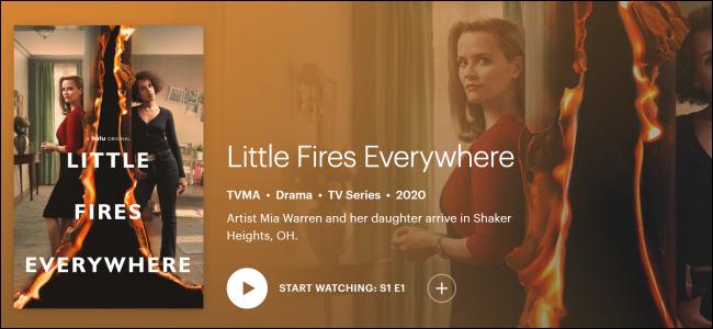 Hulu Original «Little Fires Everywhere».