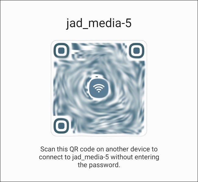 Scannez le code QR généré