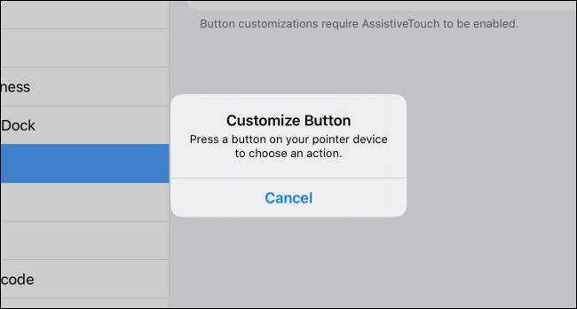 Personnaliser la fenêtre contextuelle du bouton dans iPadOS