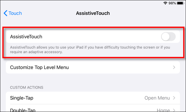 Activer AssisitiveTouch