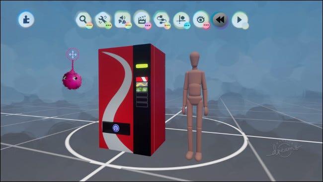 Un distributeur automatique à côté de la forme d