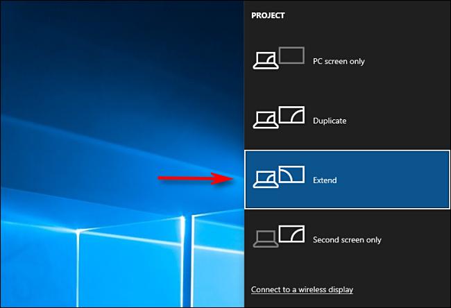 Sélectionnez Étendre dans Windows 10