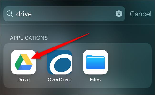 Ouvrez l'application Google Drive