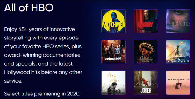HBO Max est tout le contenu HBO